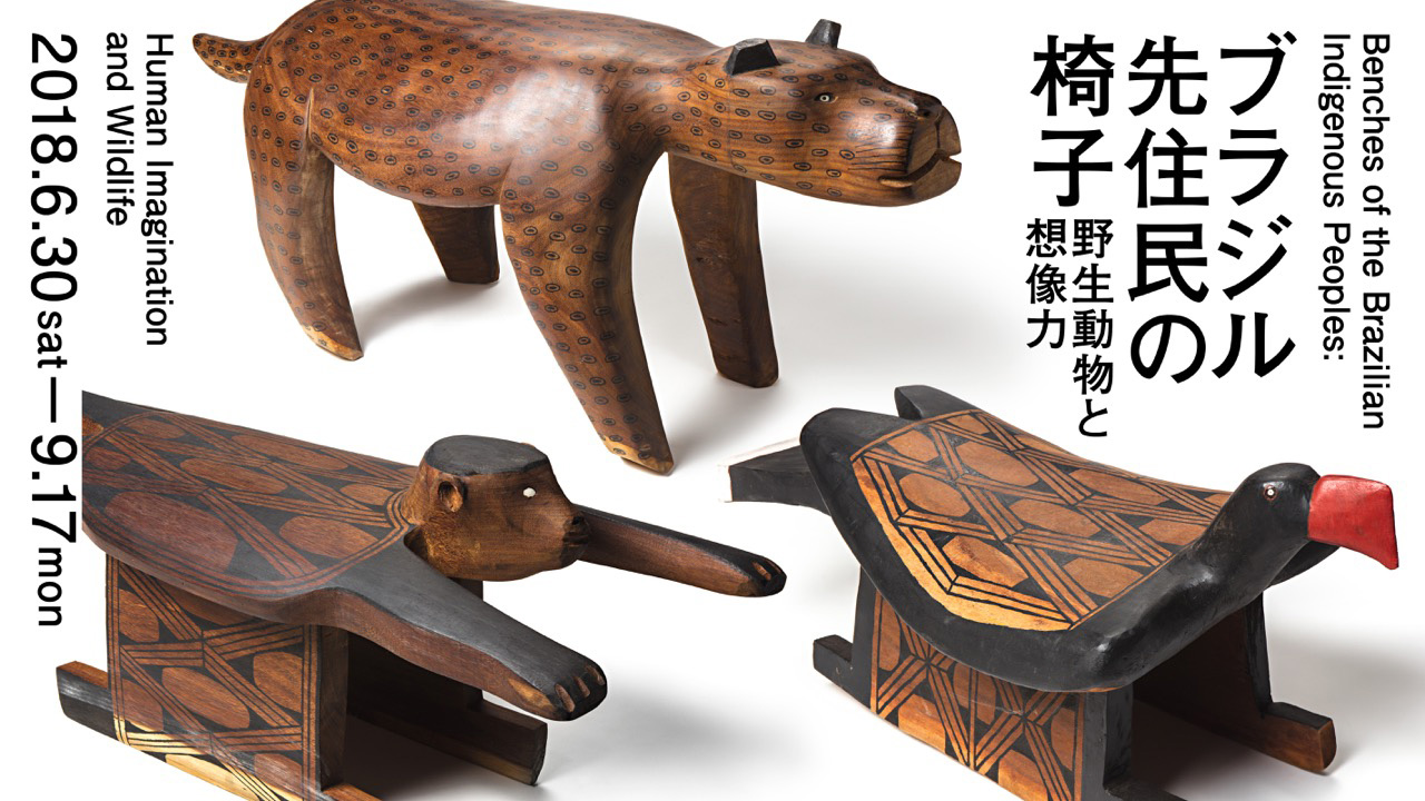 博物館 美術館 展示 ブラジル先住民の椅子 野生動物と想像力